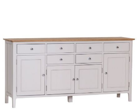Newhaven Grey Painted 4 Door Sideboard